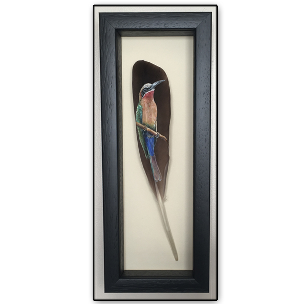 bee eater painted feather
