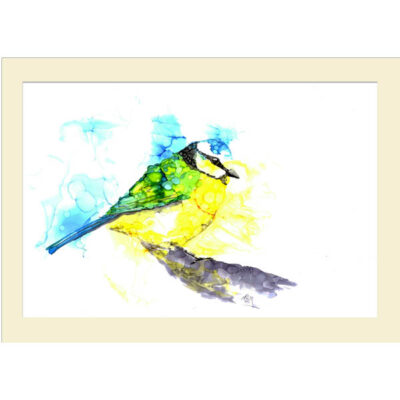 Inky Blue Tit 1 card