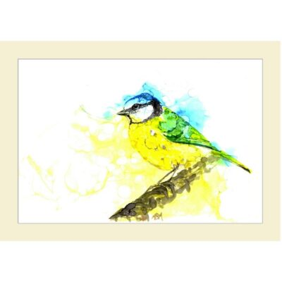 Inky Blue Tit 2 card