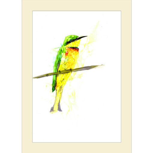 Inky Little Bee Eater Card